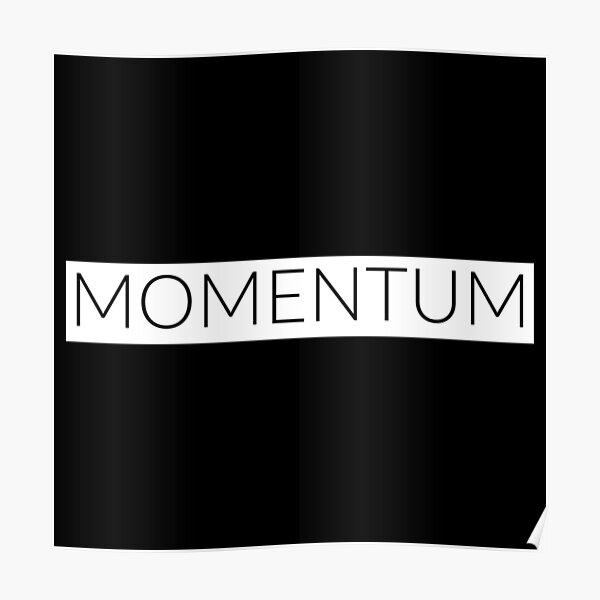 Momentum - The right moment - black & white Poster