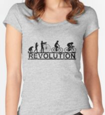 Cycling Revolution Women's Fitted Scoop T-Shirt