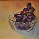 Grapes in Glass Bowl by Magaly Burton