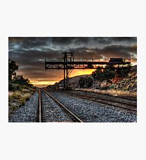 Railyard Sunrise Photographic Print