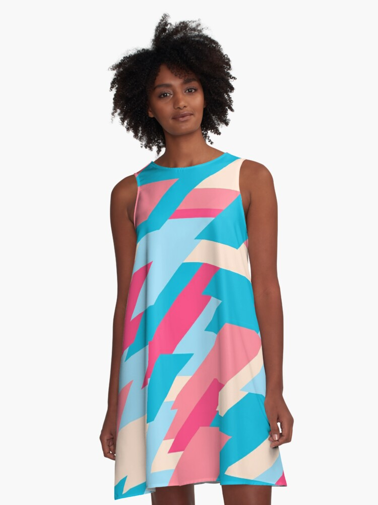 Abstract Lines Shapes Diagonal Style A Line Dress By Playerandre Redbubble