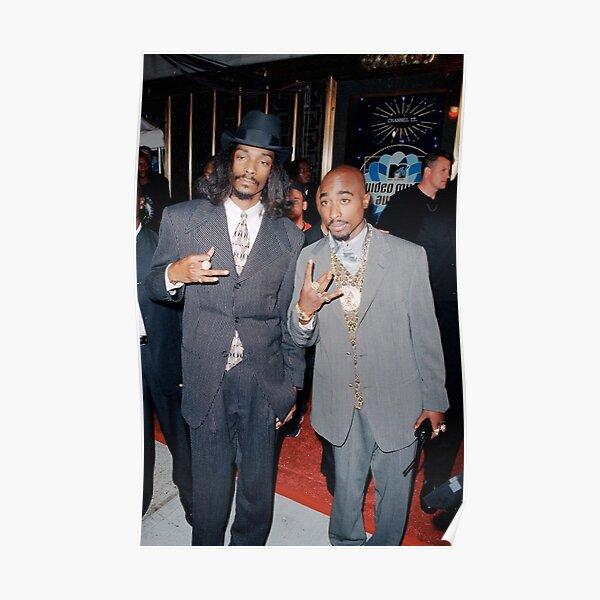 Signe de doigt Vintage Pac et Snoop Dogg Westside Poster