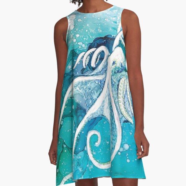 Deep A-Line Dress