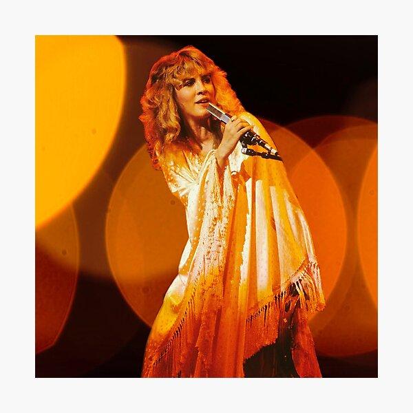 Stevie Nicks Warm Glow  Photographic Print