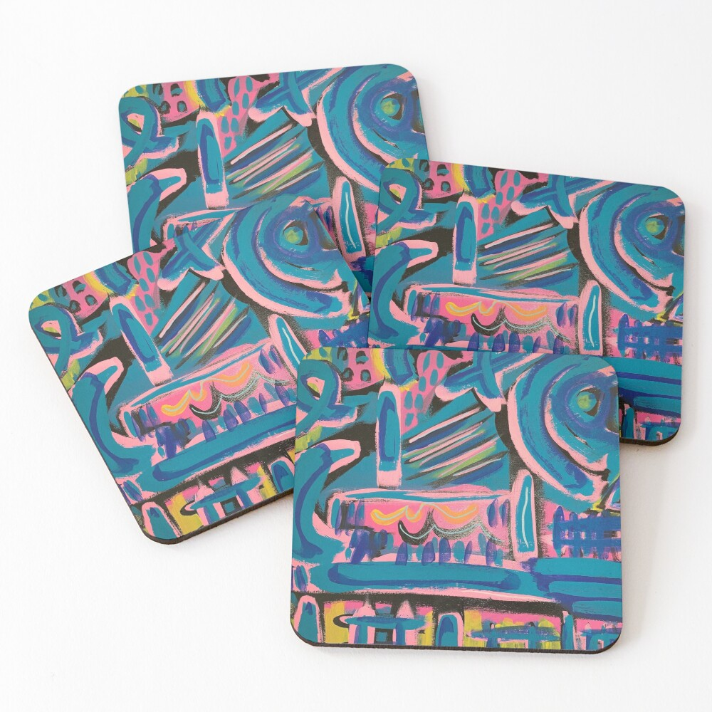 The Way to My Perch Coasters (Set of 4)