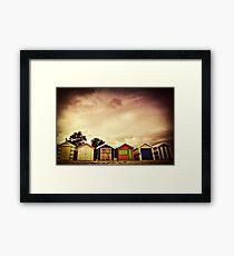 Bathing boxes, Brighton Beach Framed Print