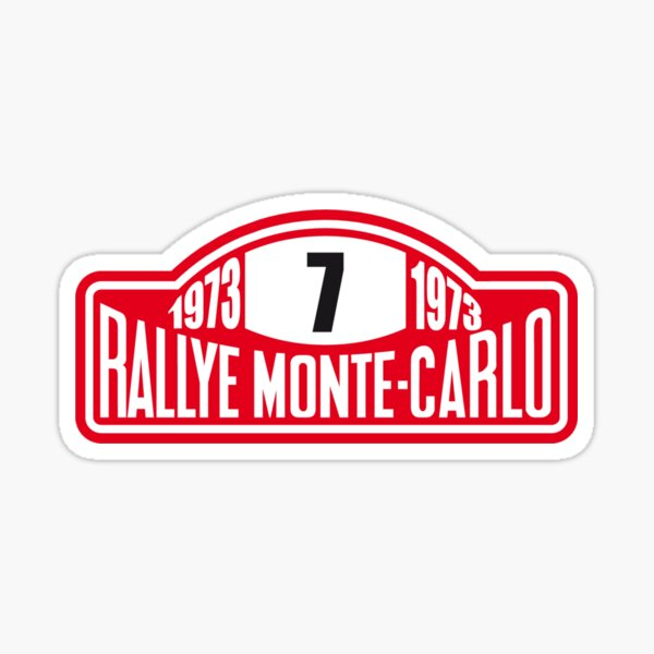 Monte Carlo Rally Sticker