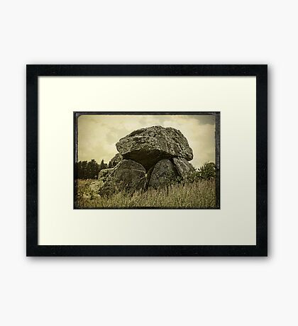 Stone Age Framed Print