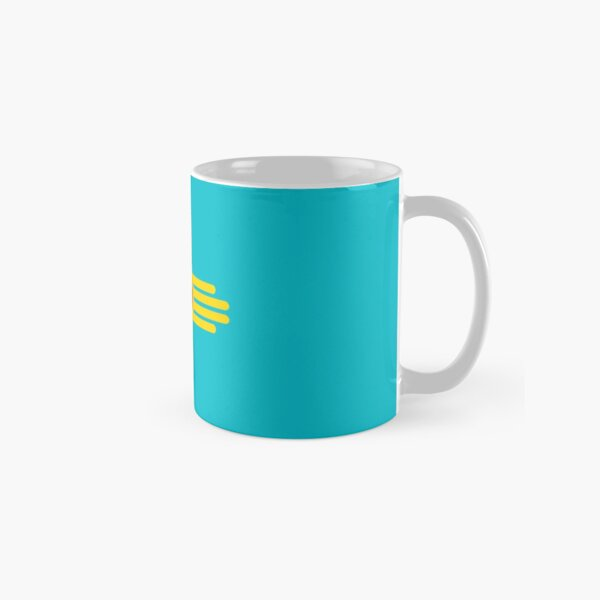New Mexico Flag in Turquoise Classic Mug