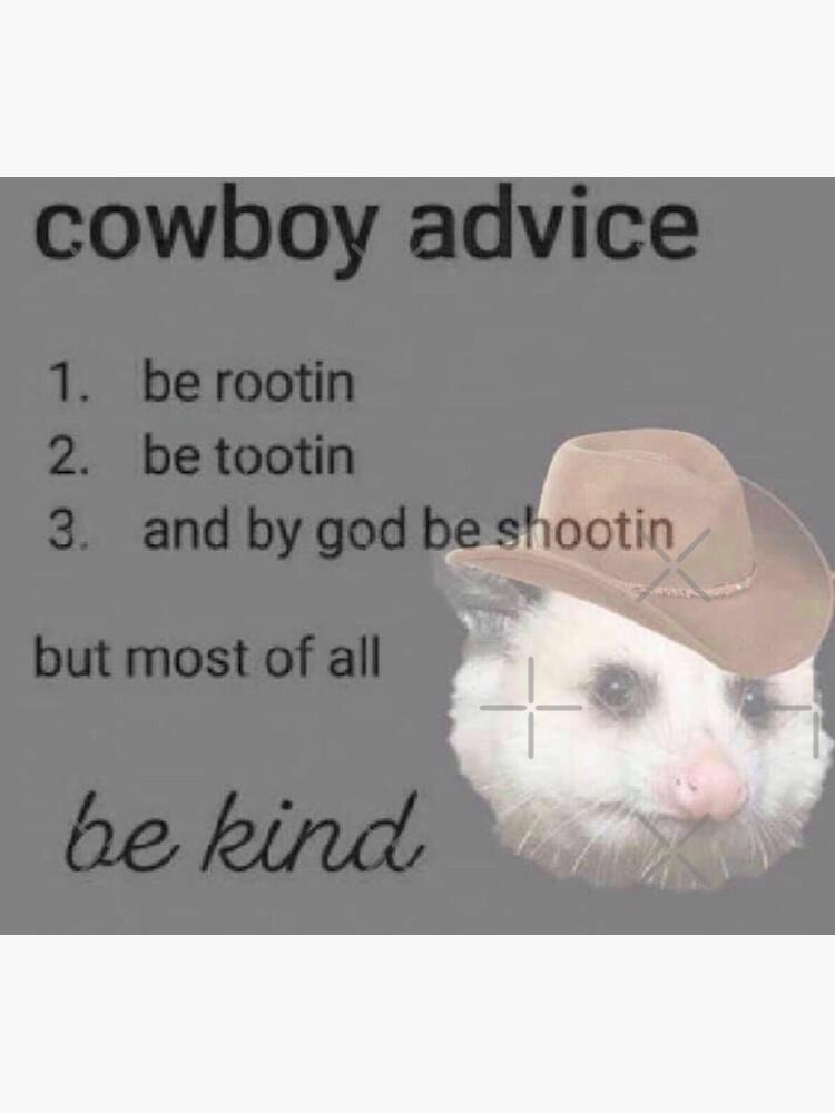 cowboy advice by milkymintshoppe