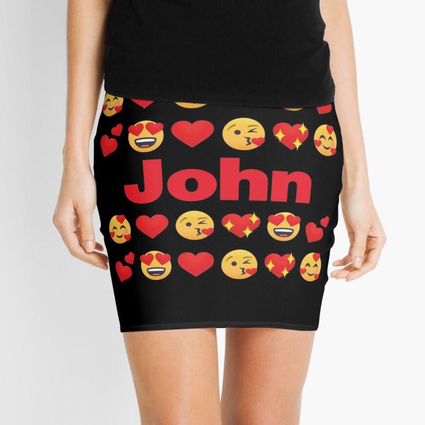 John Emoji My Love for Valentines day Mini Skirt