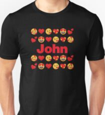 John Emoji My Love for Valentines day Slim Fit T-Shirt