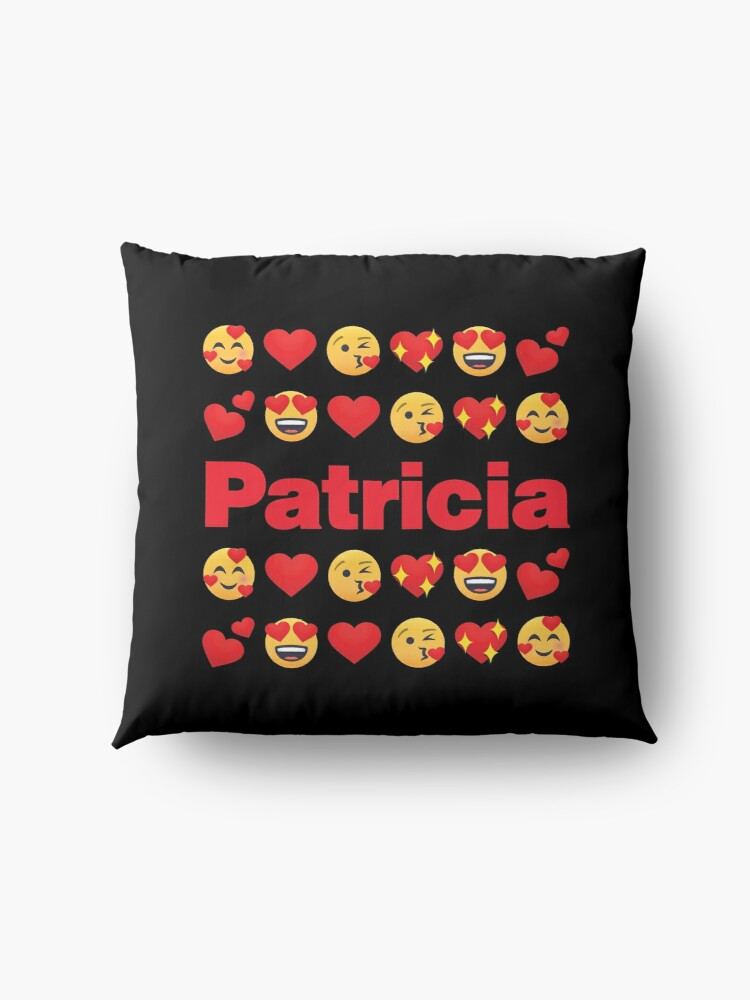 Alternate view of Patricia Emoji My Love for Valentines day Floor Pillow