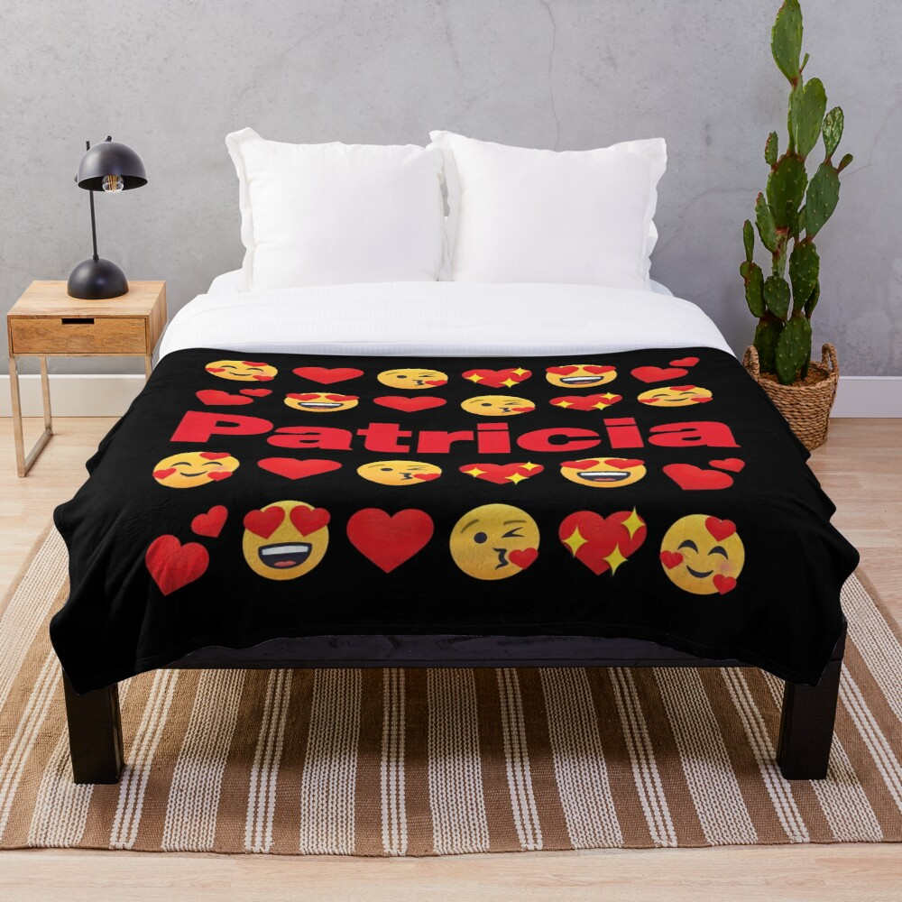 Patricia Emoji My Love for Valentines day Throw Blanket