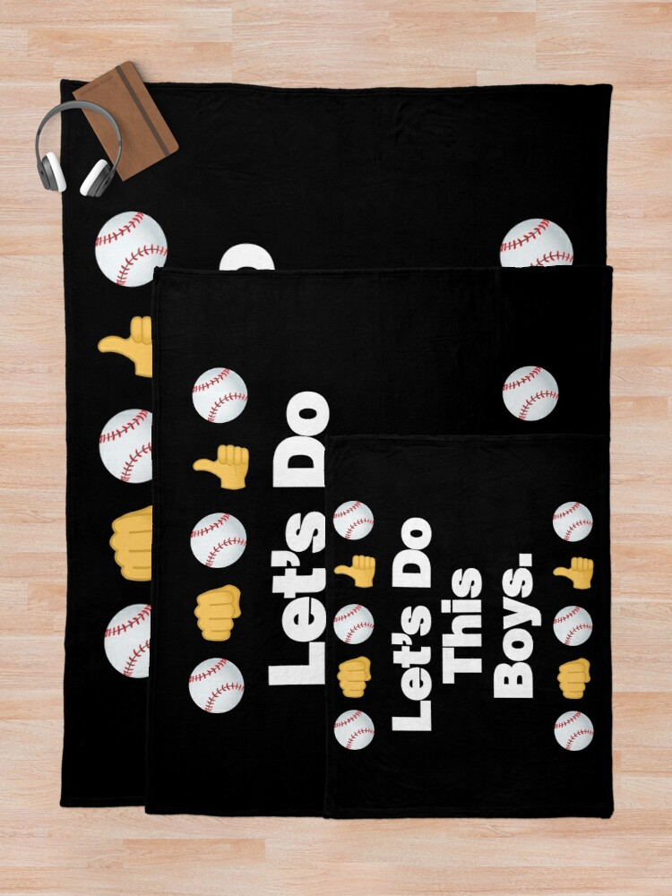 Alternate view of Lets Do This Boys Emoji Funny Baseball Saying Throw Blanket