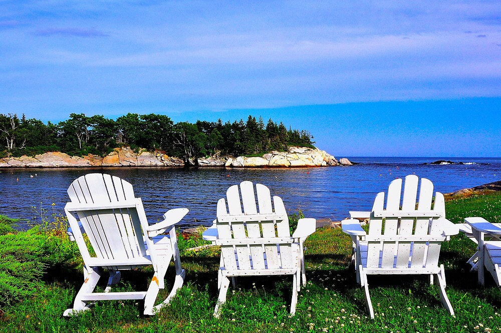 Quot Adirondack Chairs Christmas Cove Maine Quot By Fauselr