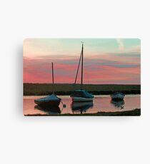 Blakeney Boats Canvas Print