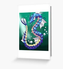 Twisting Fish Dragon Greeting Card