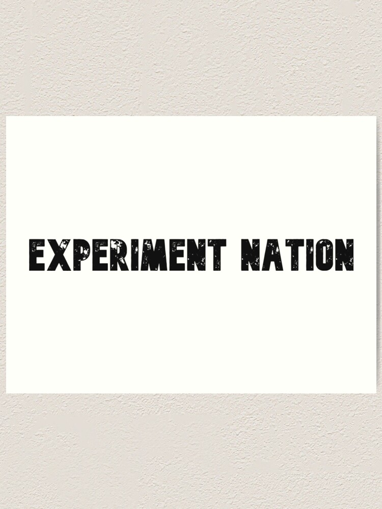 Alternate view of Experiment Nation Art Print