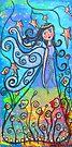 Winged Beauty-Acrylic by Juli Cady Ryan