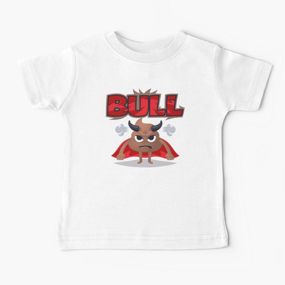 Bull Poo Emoji Funny Cartoon Animal Baby T-Shirt