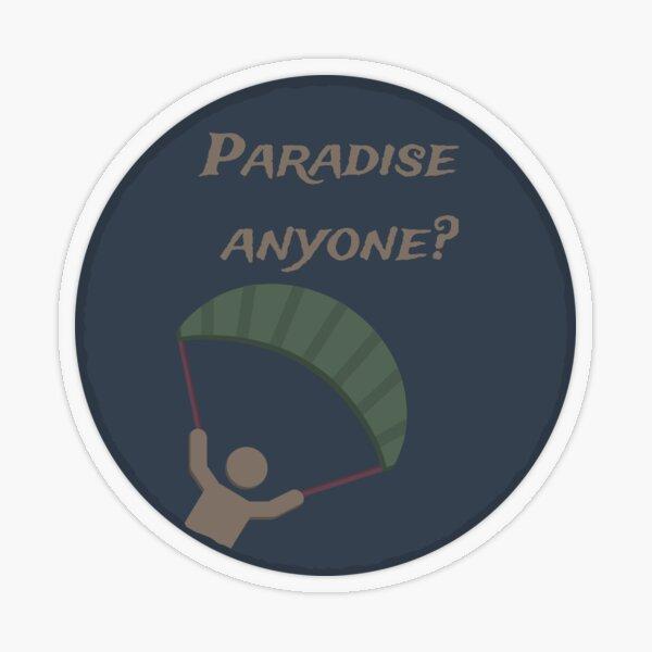 PUBG - Paradies jemand? Transparenter Sticker