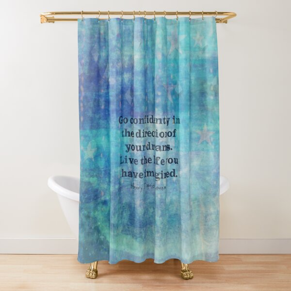Dream quote positive message, Henry David Thoreau  Shower Curtain