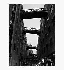 London wharf backstreets Photographic Print