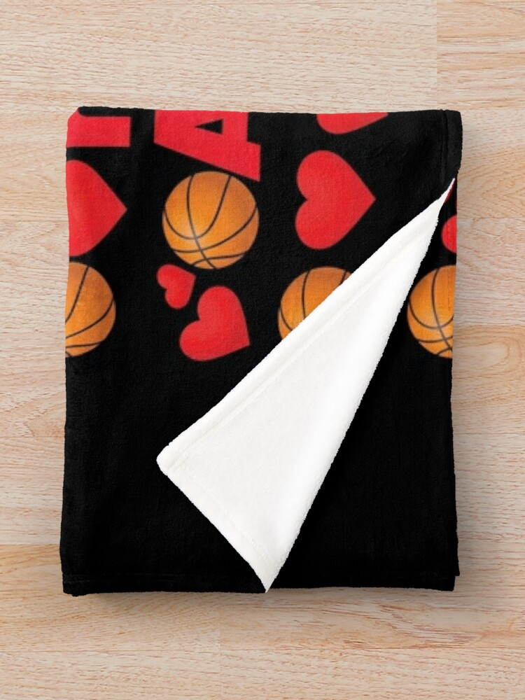 Alternate view of Basketball Emoji Be Your Valentine if your Name is Anthony Throw Blanket