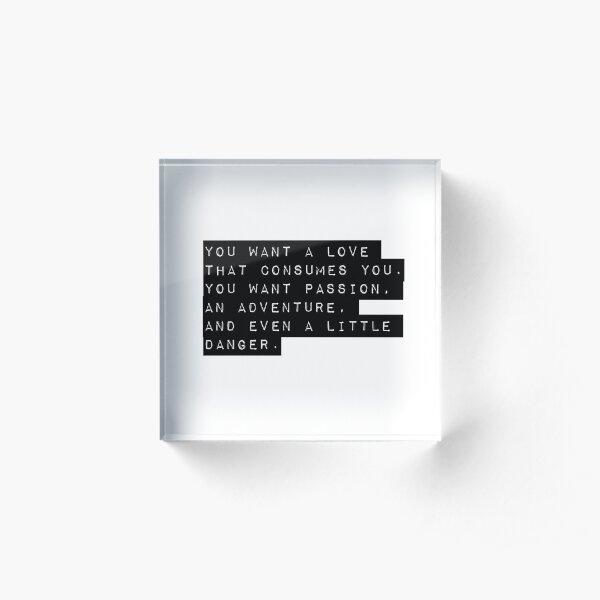 Love Quote Acrylic Block