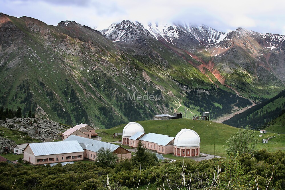 Observatory in mountains Tien Shan,   Central Asia by Medeu