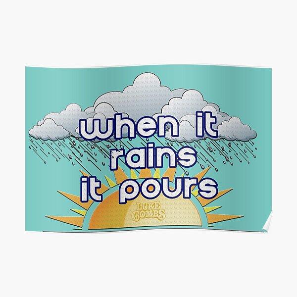 Häschen und regnende Wolken Kindergarten Duschvorhang