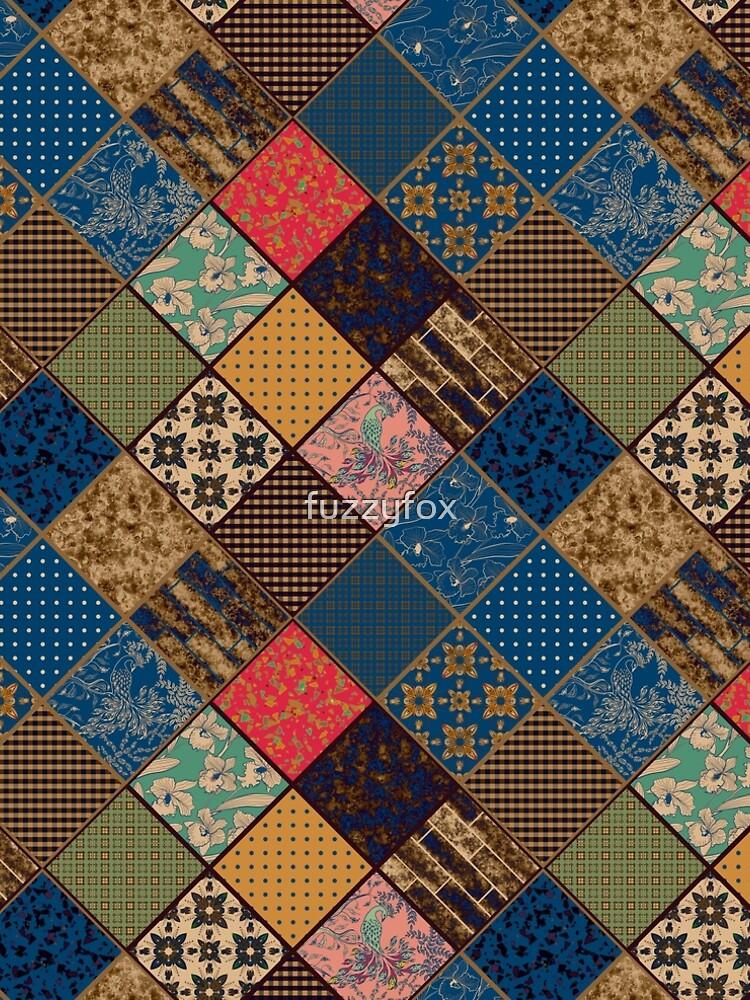Rustic patchwork, Granny pattern, rustic, patchwork, fashion, folklore by fuzzyfox