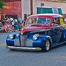 Red and Blue Classic Car by carls121