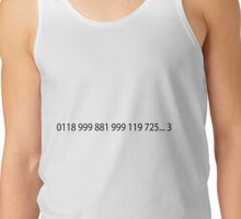 Emergency Number From IT Crowd Tank Top