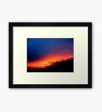 Sequential Sunset Framed Print