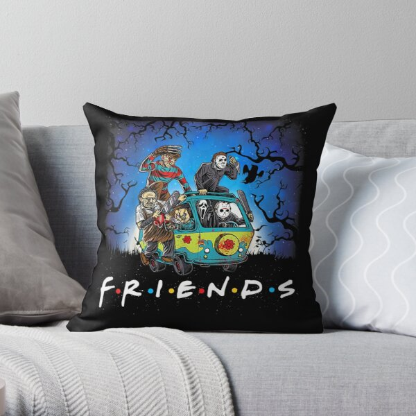 Horror Mashups: Horror Friends Throw Pillow