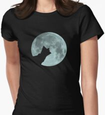 Wolf Collar Women's Fitted T-Shirt