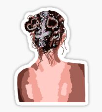 Glitter Haired girl Sticker