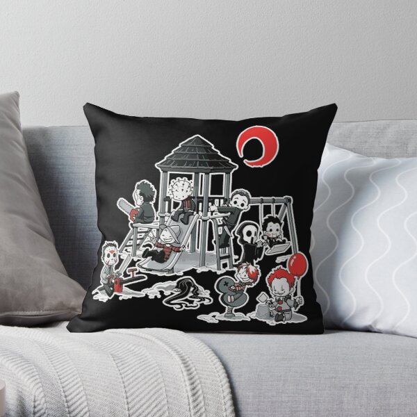 Horror Mashups: Horror Kids Playground Throw Pillow