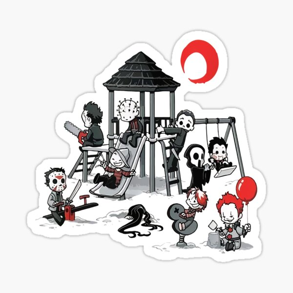 Horror Mashups: Horror Kids Playground Sticker
