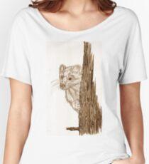 Pine Marten in pencil Women's Relaxed Fit T-Shirt