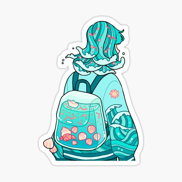 ocean backpack Sticker