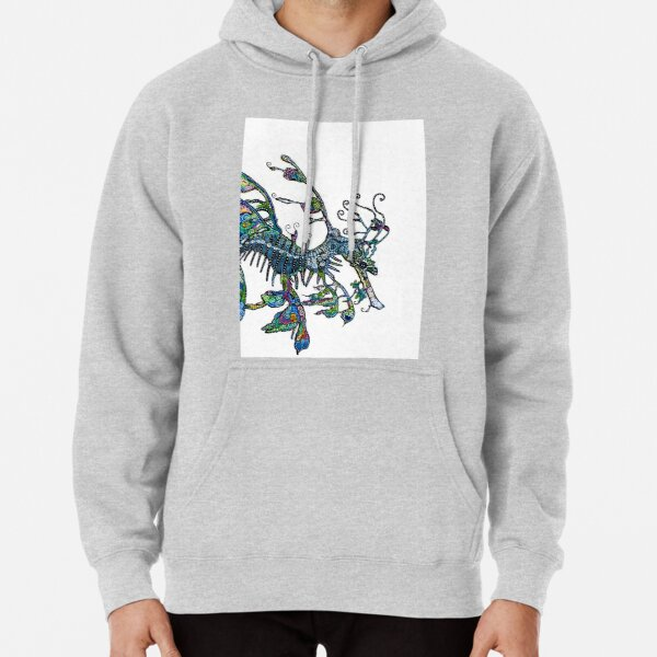 Leafy Seadragon by Sheridon Rayment Pullover Hoodie