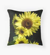 Sunflowers art prints Beautiful Summer Sunflower Garden Throw Pillow