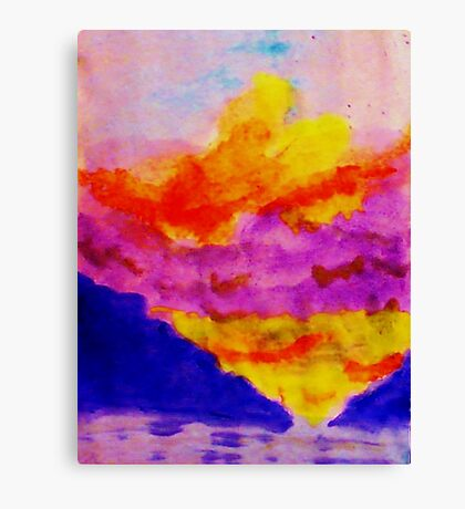 Vibrant sky line , watercolor Canvas Print