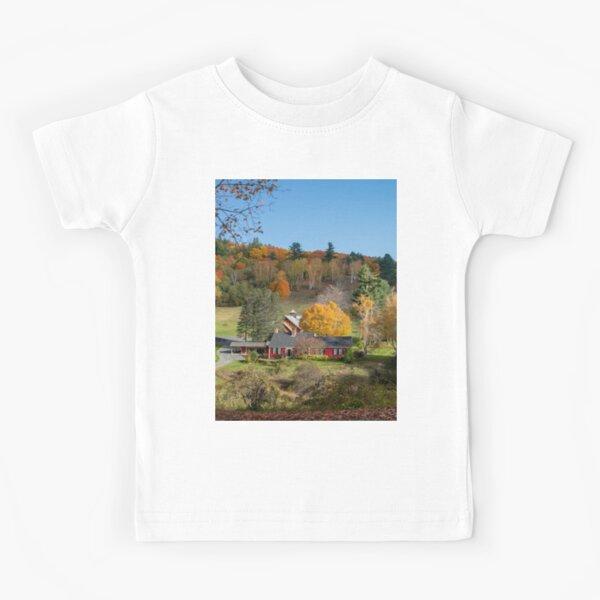 Sleepy Hollow Farm Vermont Panorama  Kids T-Shirt