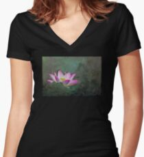 Mystical Lotus Women's Fitted V-Neck T-Shirt