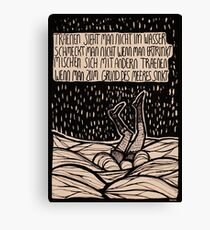 Till Lindemann Poem Canvas Print
