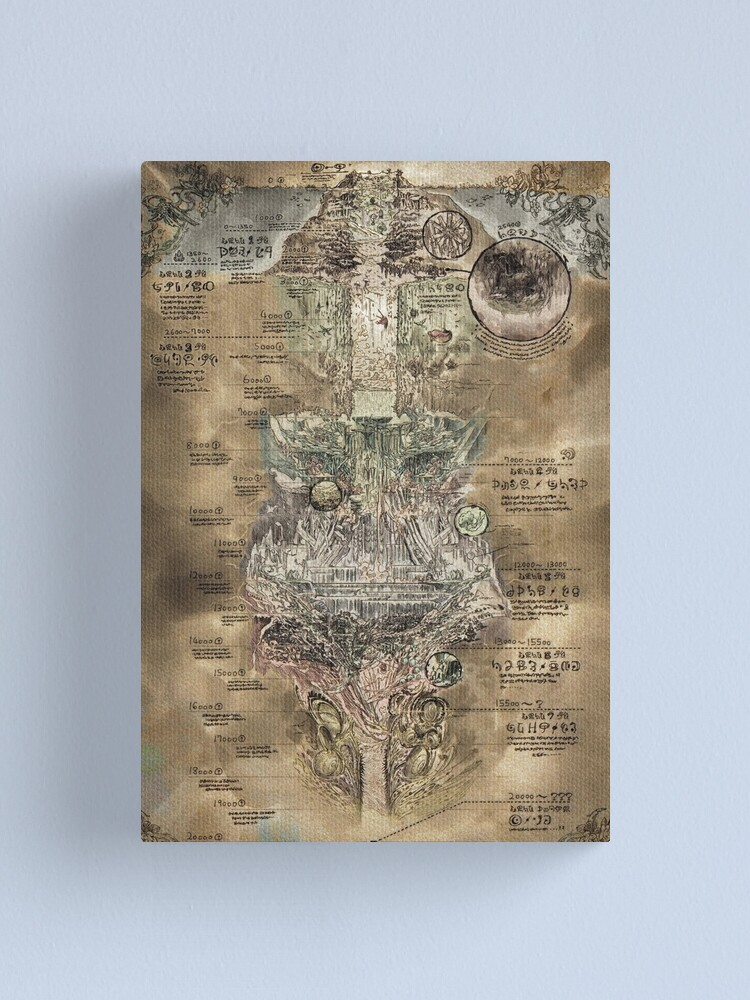 Alternate view of Made in Abyss - The Abyss Map Canvas Print